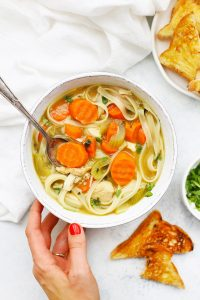 Ginger Chicken Noodle Soup from One Lovely Life