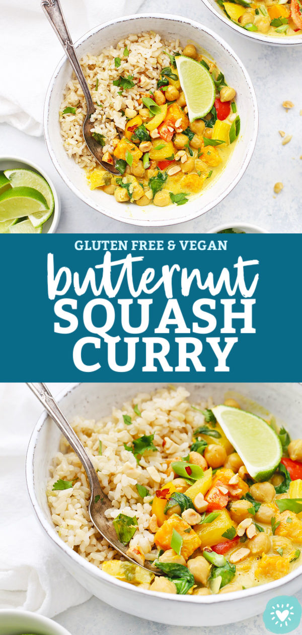 Vegan Butternut Squash Curry Bowls from One Lovely Life