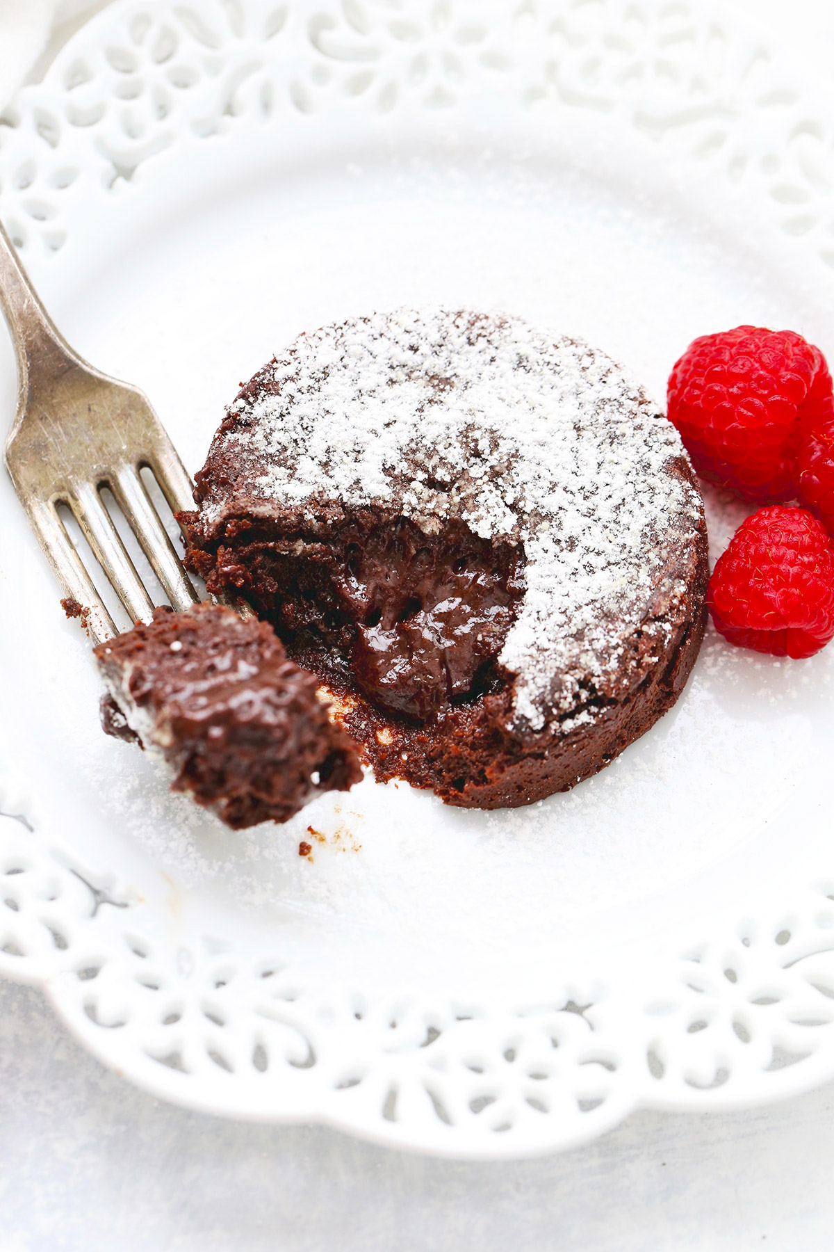 Paleo Chocolate Lava Cake from One Lovely Life