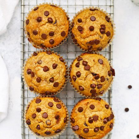 Healthy Peanut Butter Banana Muffins from One Lovely Life