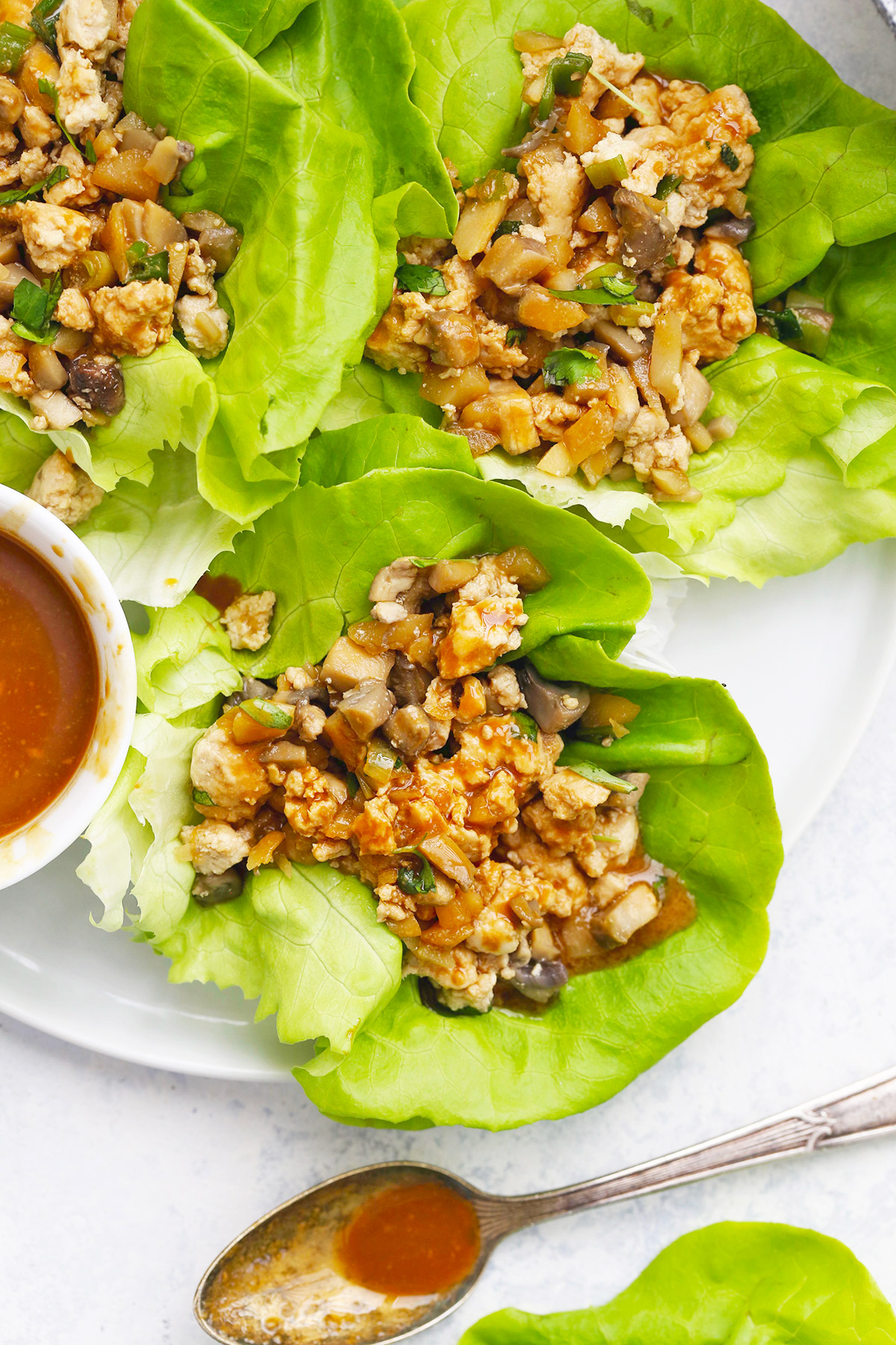 Paleo Chicken Lettuce Wraps from One Lovely Life