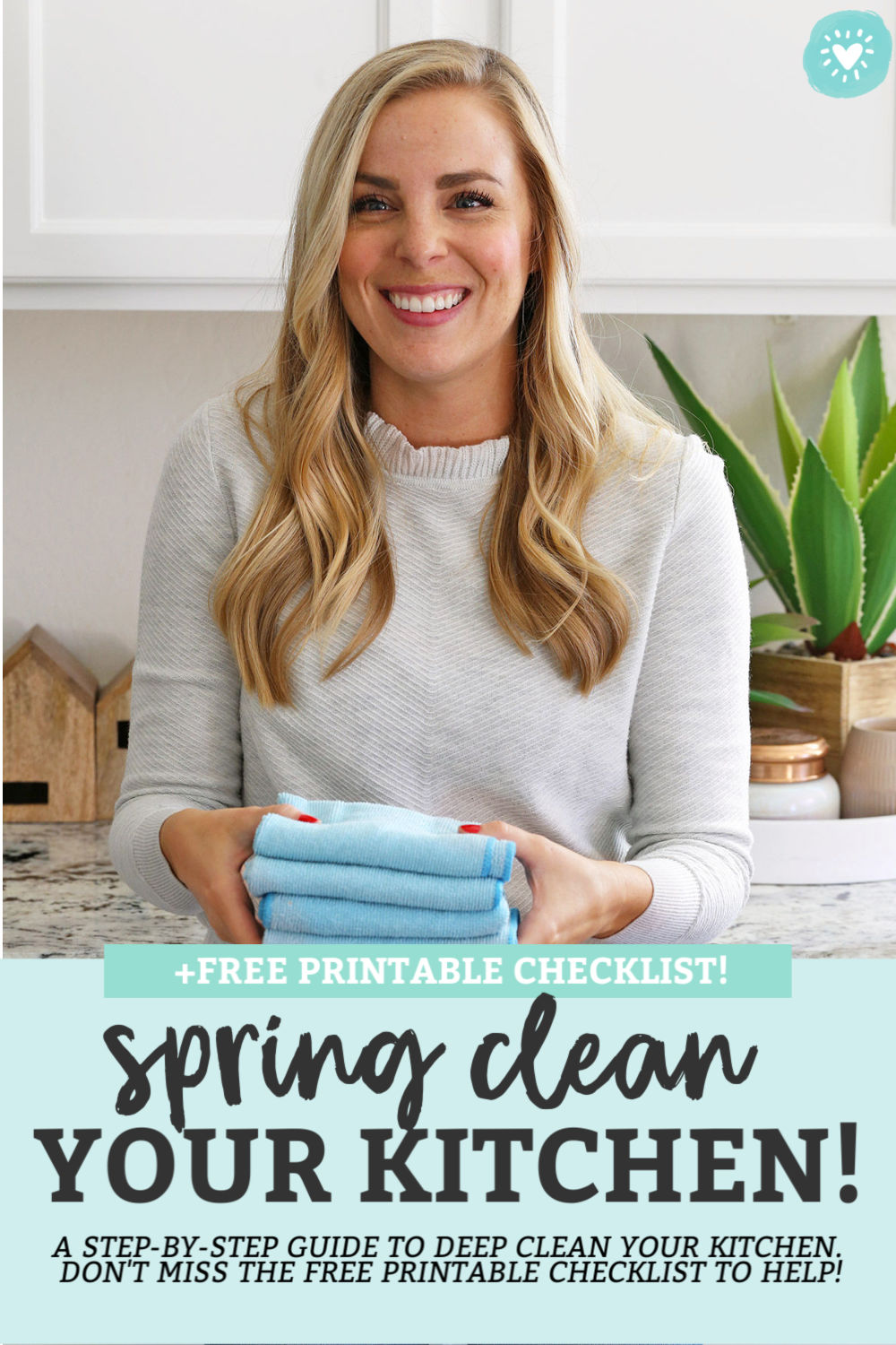 How to Deep-Clean Your Kitchen. A step-by-step checklist to clean your kitchen! Perfect for spring cleaning! // Kitchen Cleaning Tips // Spring Cleaning // Kitchen Cleaning Checklist #cleaningtips #springcleaning #kitchen #kitchentips #freeprintable