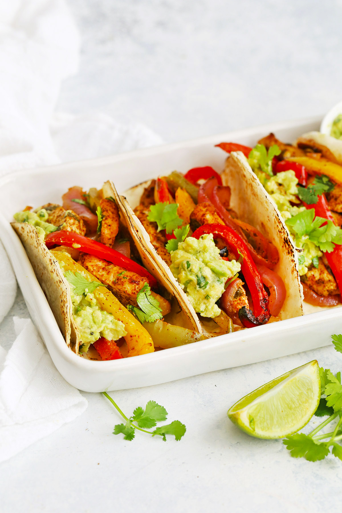 Sheet Pan Chicken Fajitas from One Lovely Life