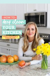 How to Deep Clean Your Kitchen from One Lovely Life