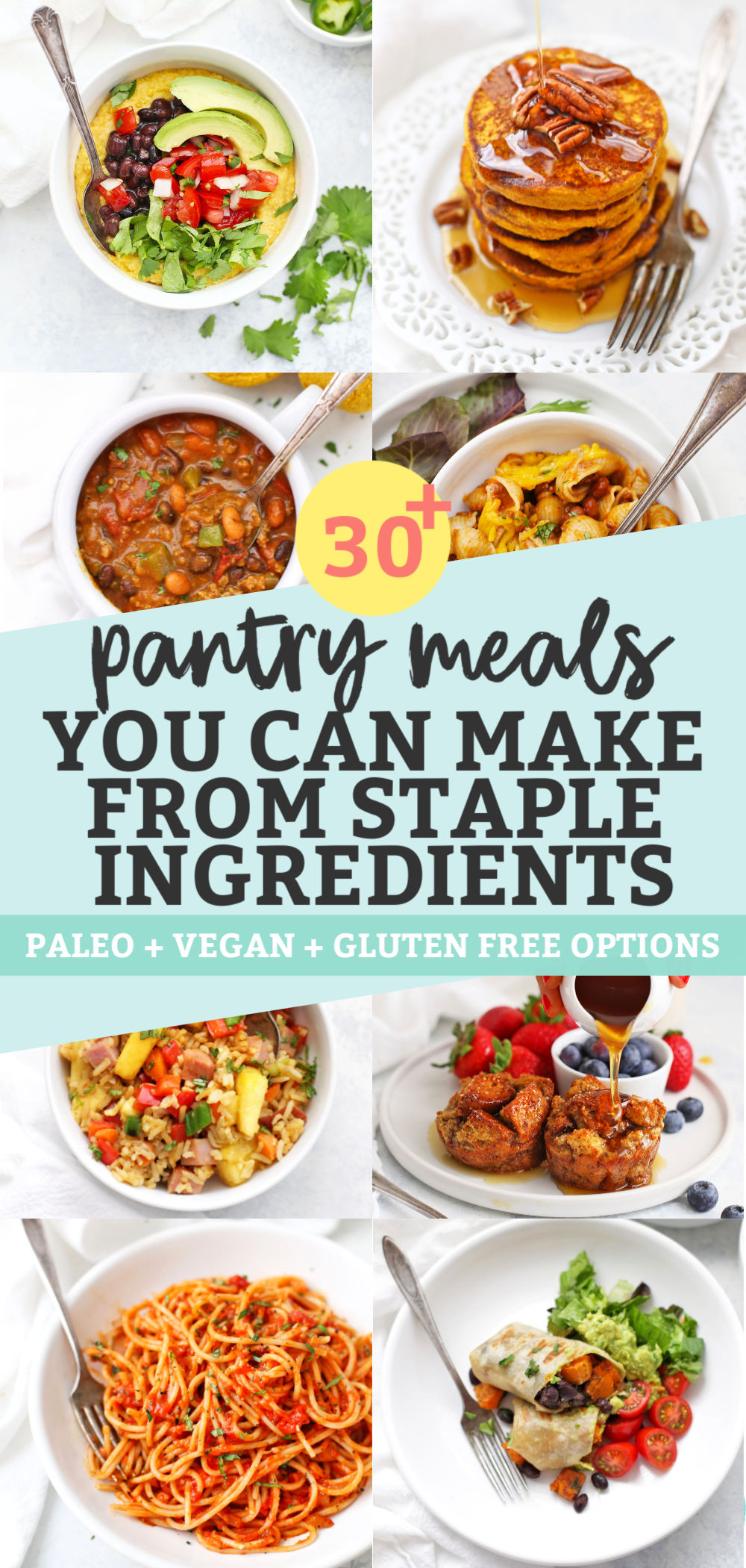 30 Pantry Meals made from Pantry Staples from One Lovely Life