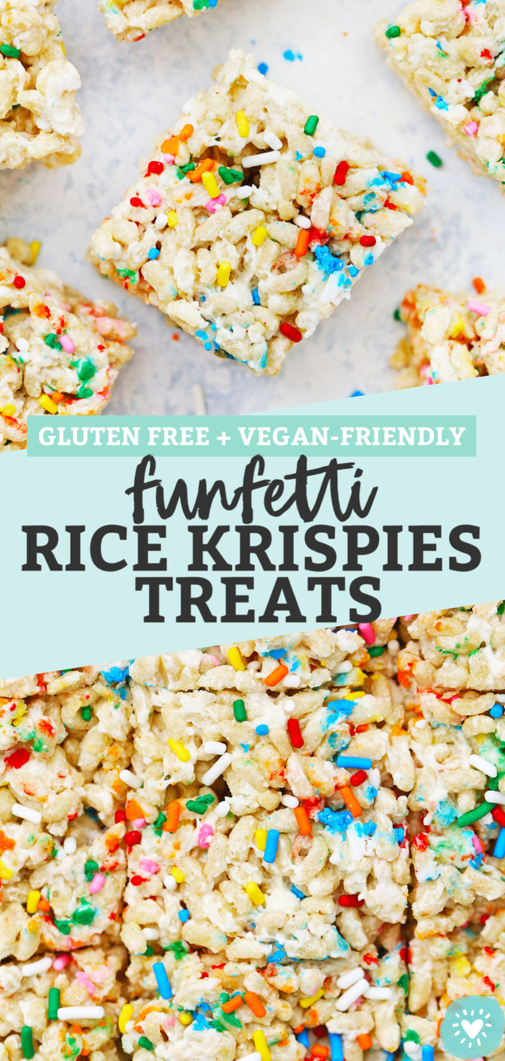 Funfetti Rice Krispies Treats from One Lovely Life