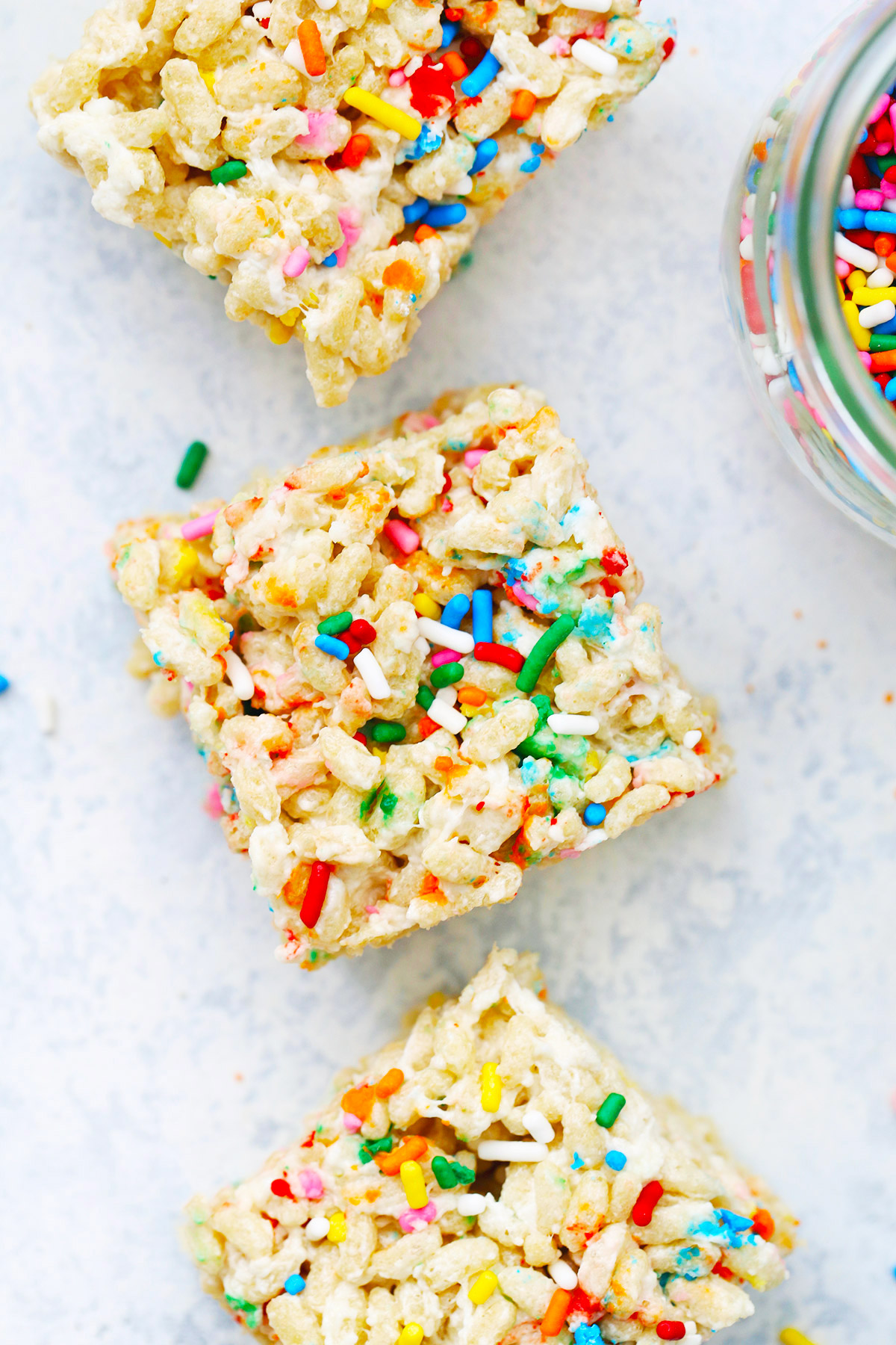 Superb Funfetti Birthday Cake Rice Krispies Treats Gluten Free Vegan Personalised Birthday Cards Sponlily Jamesorg