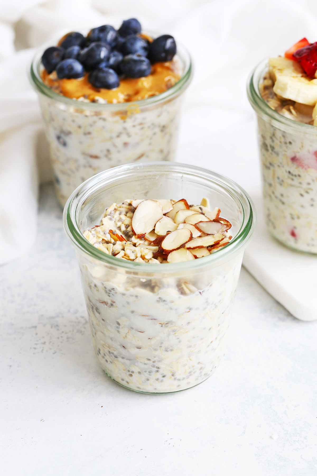 Honey Almond Overnight Oats from One Lovely Life