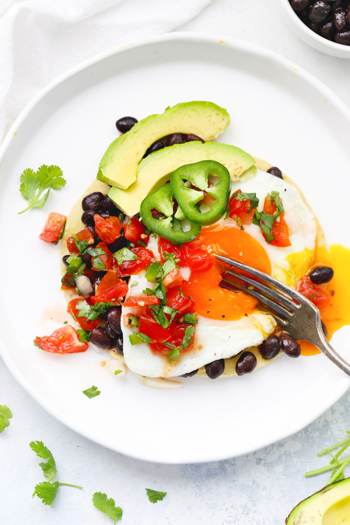 Huevos Rancheros (Ranch Style Eggs) from One Lovely Life