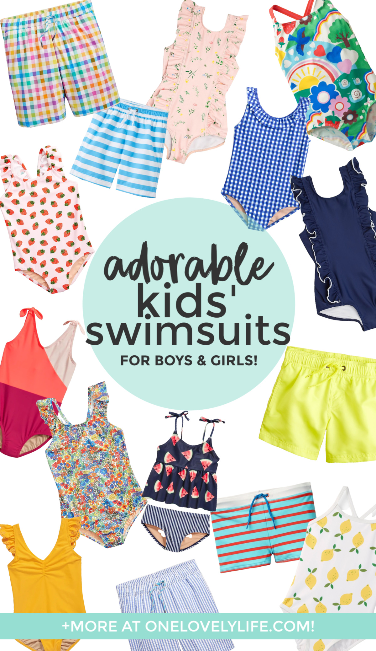Kids swimsuits curated by One Lovely Life