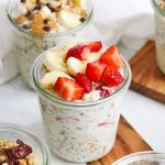 Strawberry Banana Overnight Oats from One Lovely Life