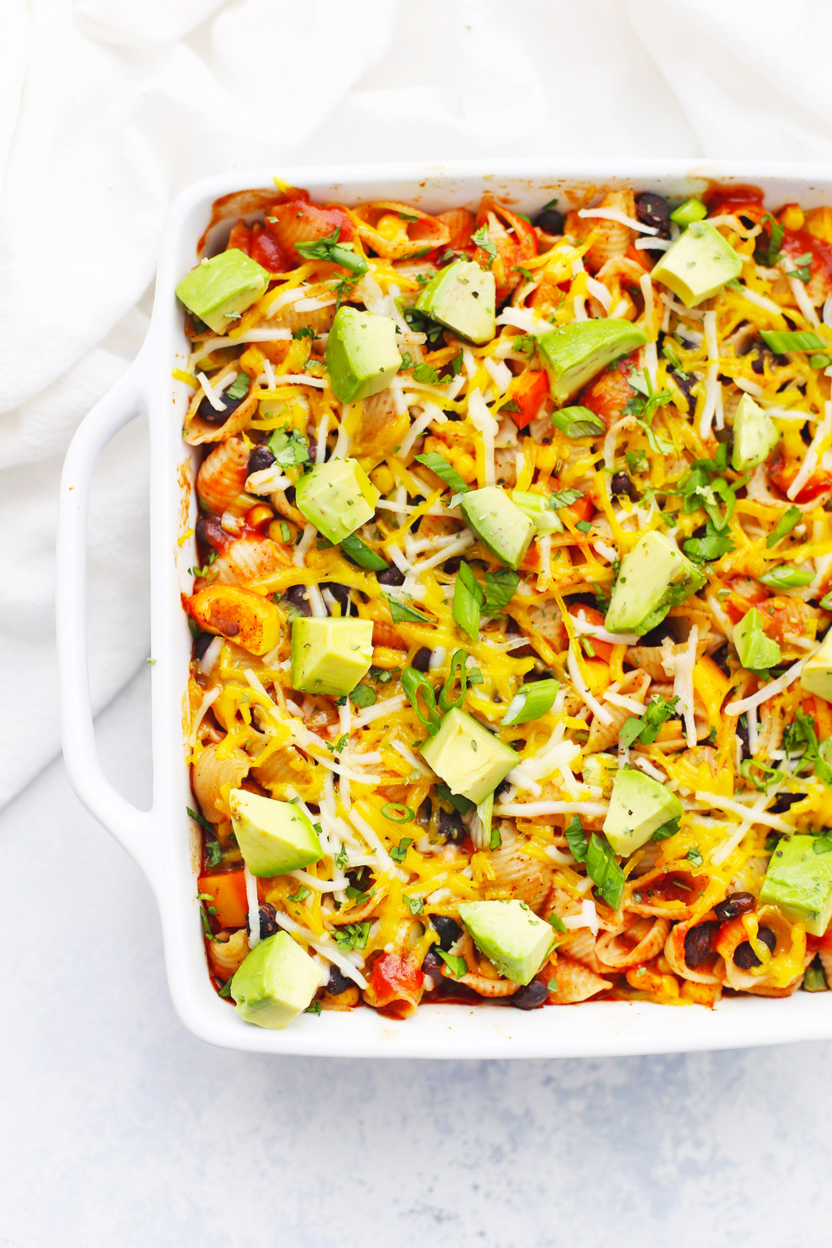 Vegetarian Taco Pasta from One Lovely Life