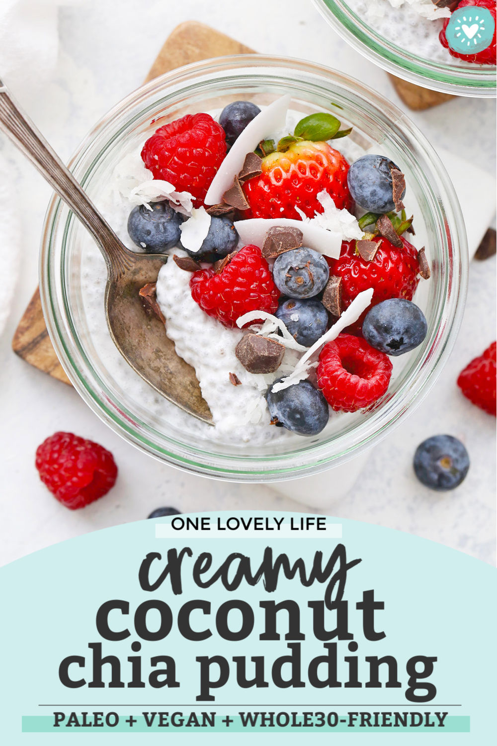 Coconut Chia Pudding from One Lovely Life