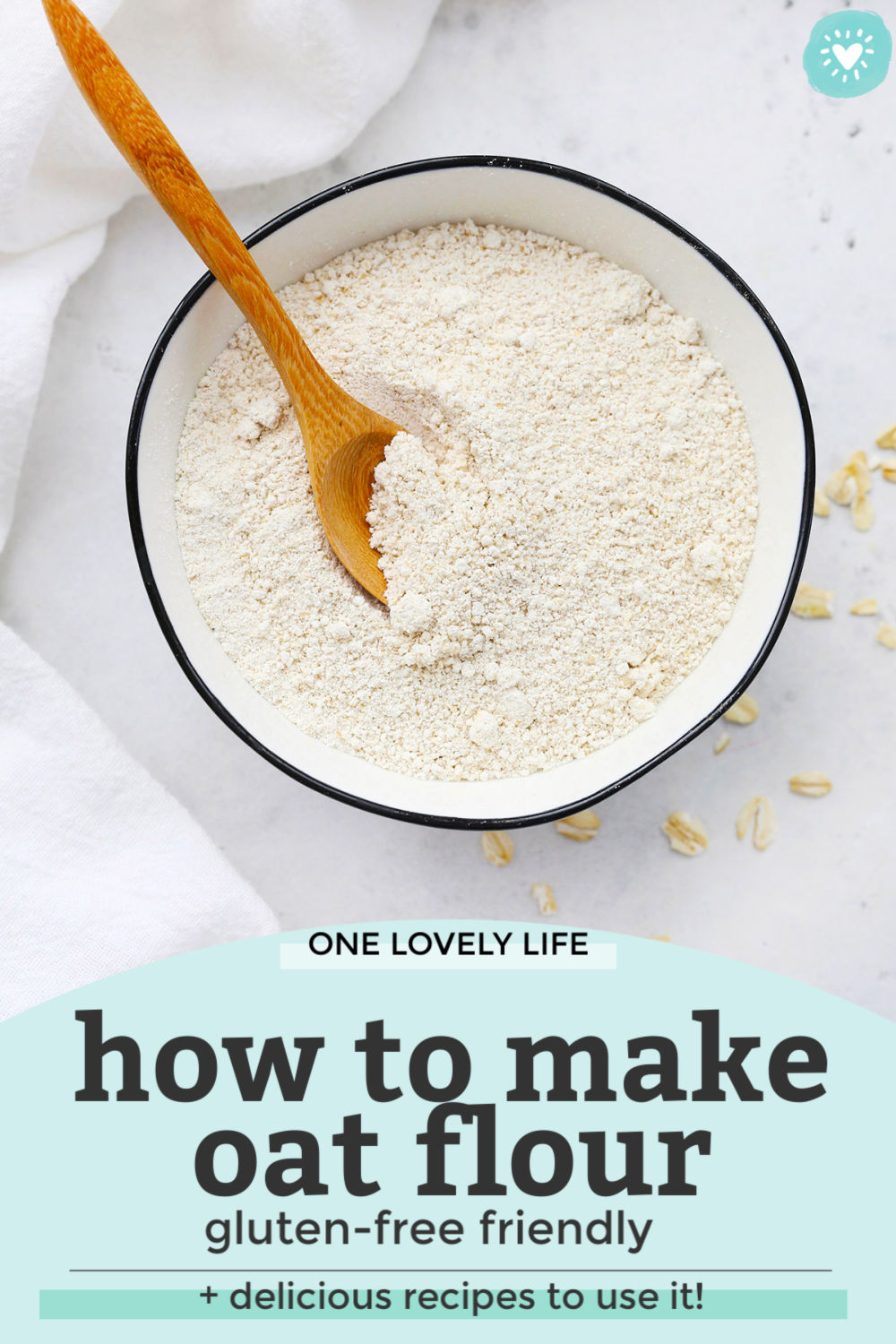 How to Make Oat Flour Tutorial from One Lovely Life