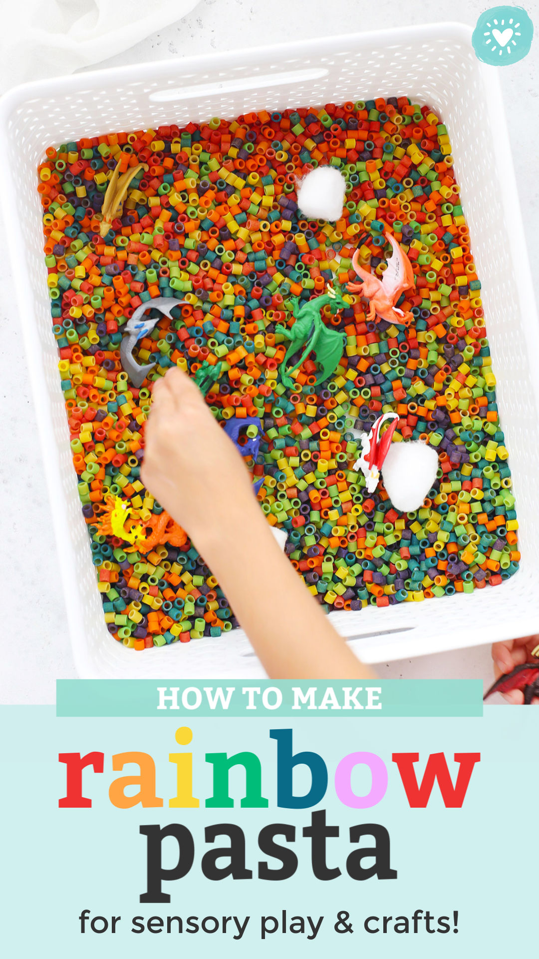 How to Make Rainbow Pasta Tutorial from One Lovely Life