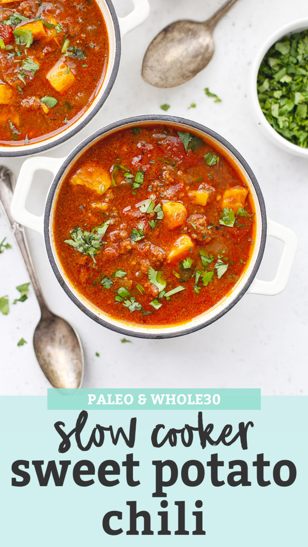 Paleo Slow Cooker Sweet Potato Chili from One Lovely Life