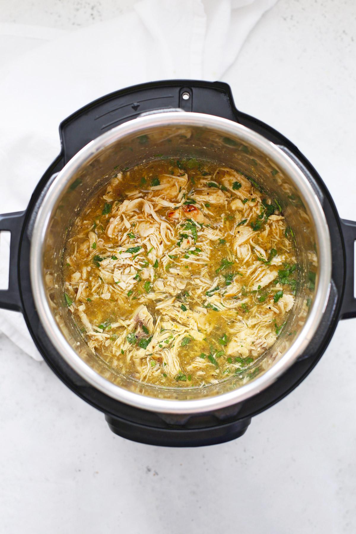 Instant Pot Shredded Salsa Verde Chicken
