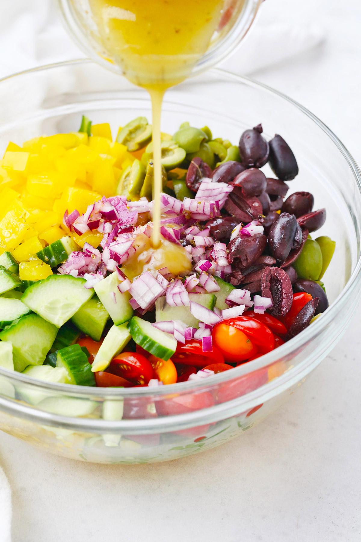 Mediterranean Orzo Pasta Salad (Gluten Free + Vegan)