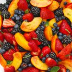 Peach Berry Fruit Salad from One Lovely Life