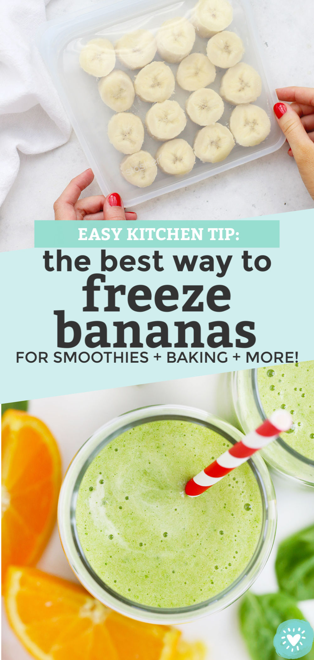How to Freeze Bananas tutorial from One Lovely Life