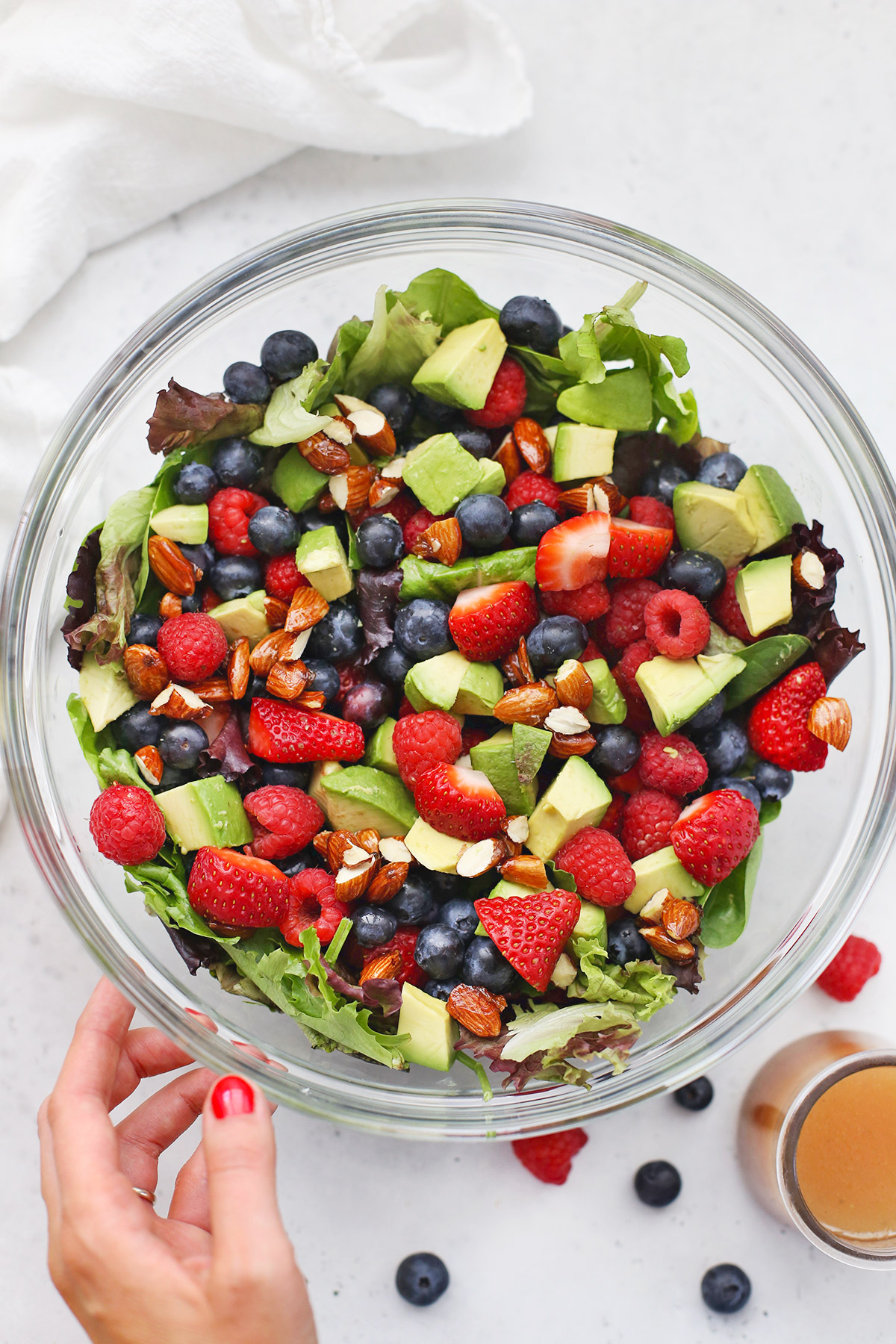 Mixed Berry Salad from One Lovely Life