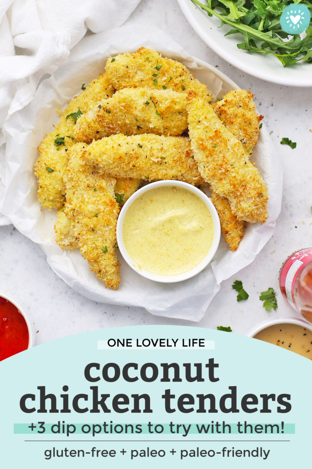 Baked Coconut Chicken Tenders from One Lovely Life
