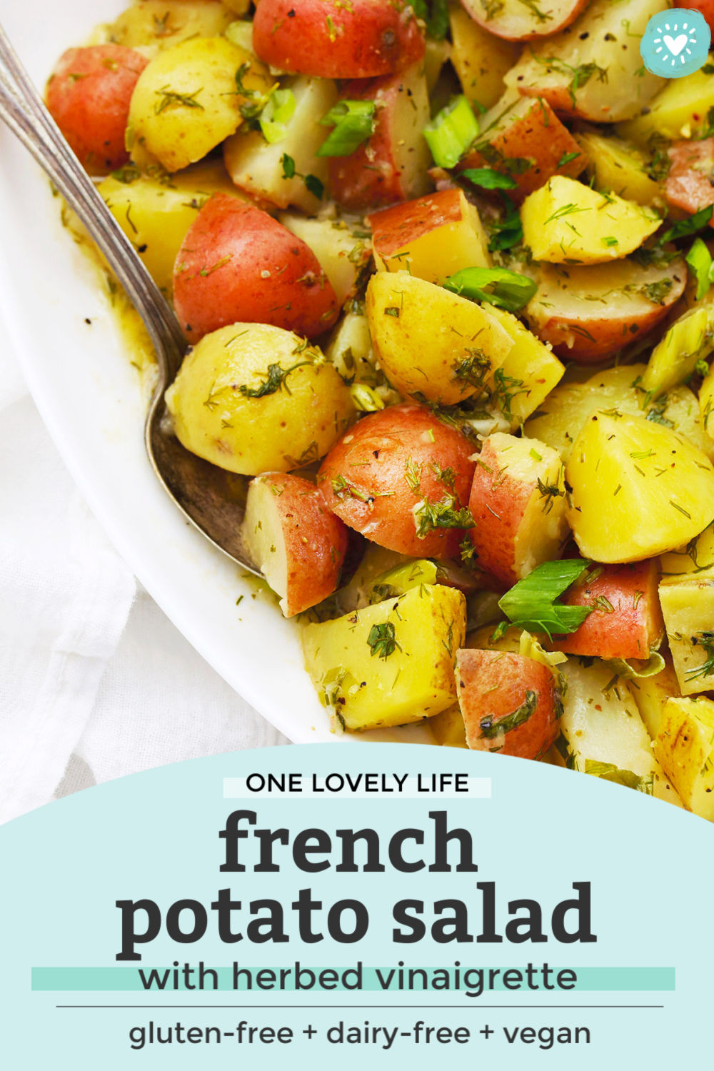 French Potato Salad with Vinaigrette from One Lovely Life