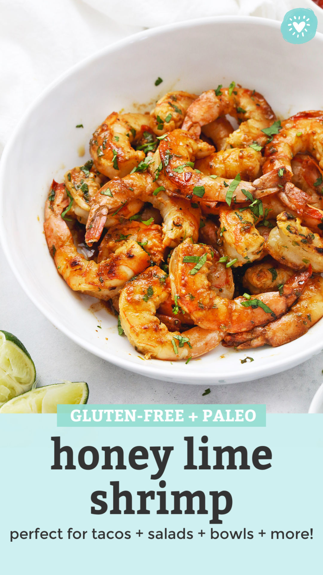 Honey Lime Shrimp from One Lovely Life