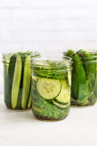 Refrigerator Dill Pickles from One Lovely Life
