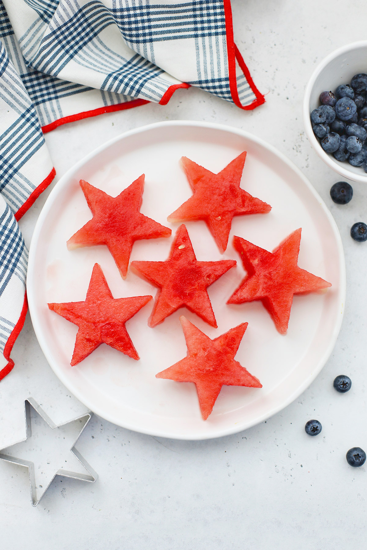 Watermelon Star Sparklers + Lime Yogurt Dip from One Lovely Life