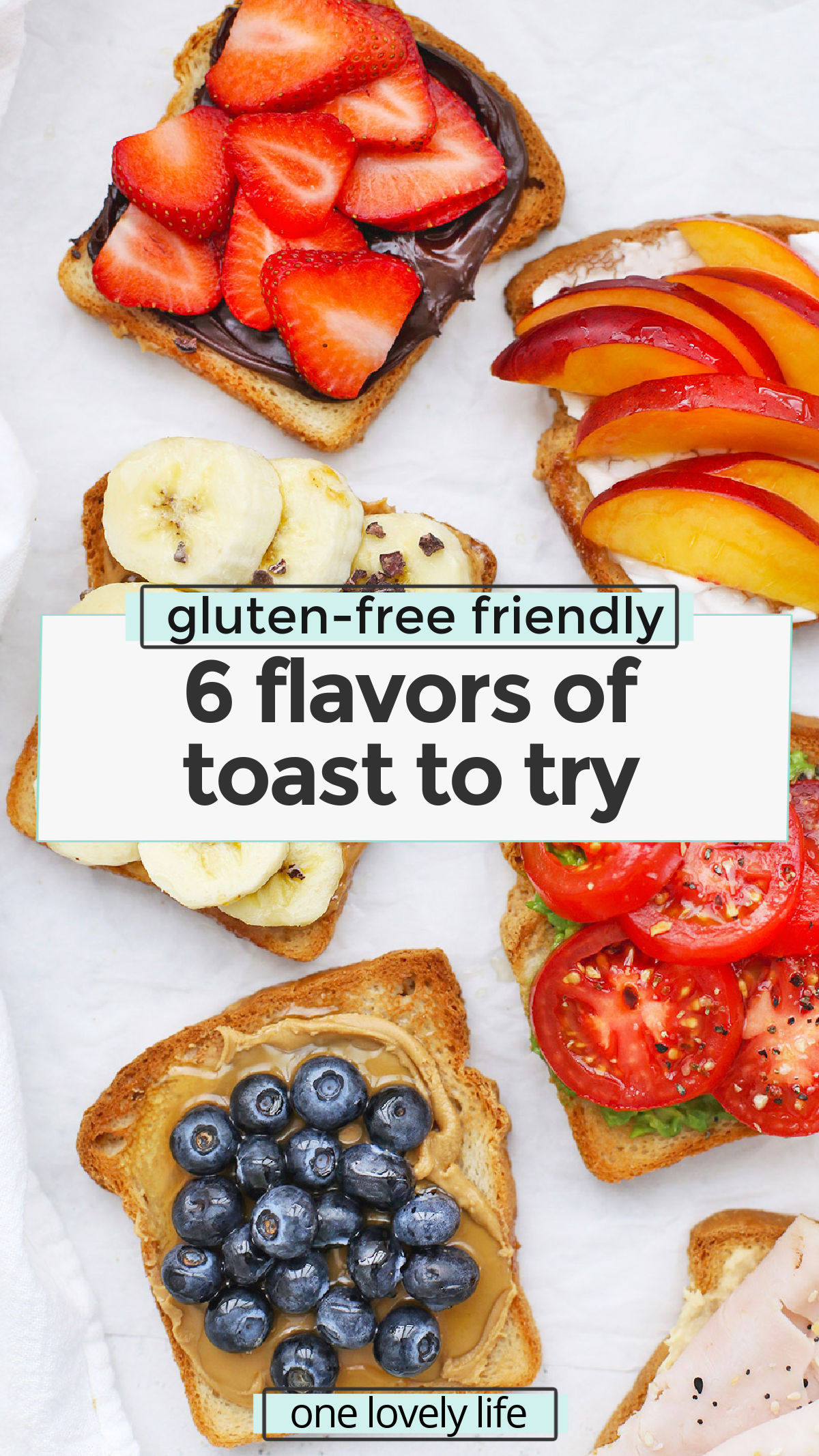 Yummy Toast Flavors to Try - These tasty toast ideas are the perfect way to get creative at breakfast, lunch, or snack. Choose from our lists of topping ideas or try one of our 6 favorite combinations. (Gluten-Free + Vegan Options) // Gluten-Free Toast // Creative Toast Ideas // Breakfast // brunch // hummus toast // avocado toast #toast #breakfast #brunch #snack