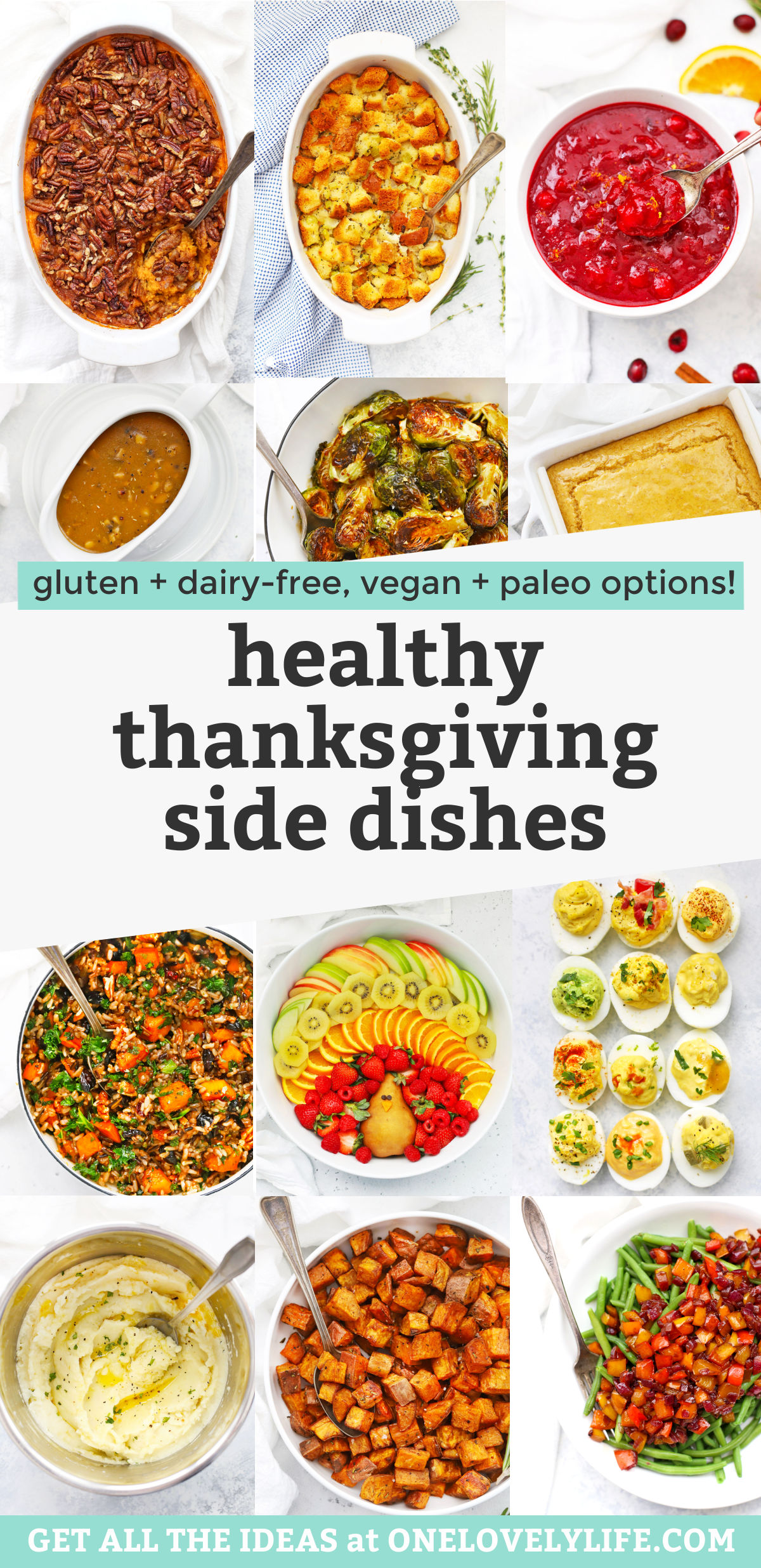 Our Best Healthy Thanksgiving Side Dishes - Everything you need for Thanksgiving besides a turkey! It's always a good Thanksgiving with these yummy sides! // Paleo Thanksgiving Sides // Vegan Thanksgiving Sides // Gluten Free Thanksgiving Side Dishes // Healthy Thanksgiving Sides #sidedishes #thanksgiving #paleo #vegan #healthy #glutenfree