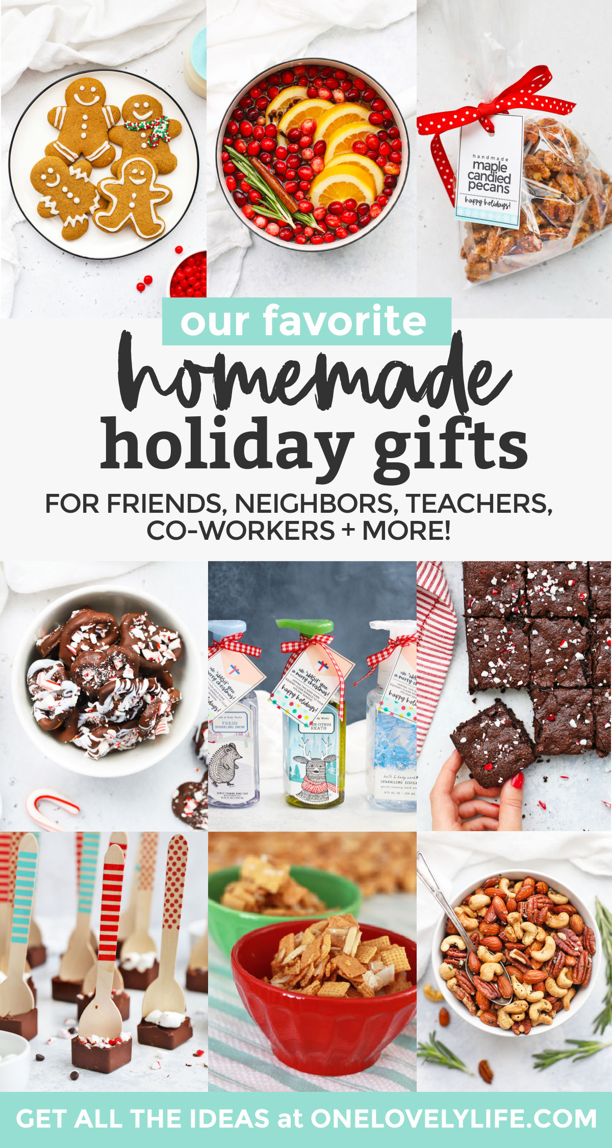 Our Best Homemade Christmas Gifts - These easy DIY holiday gifts are so fun to share with friends, neighbors, teachers, co-workers + more! // DIY Christmas Gifts // Homemade Holiday Gift // Edible Holiday Gift // Christmas Cookie Plate #giftidea #diychristmas #homemadegift