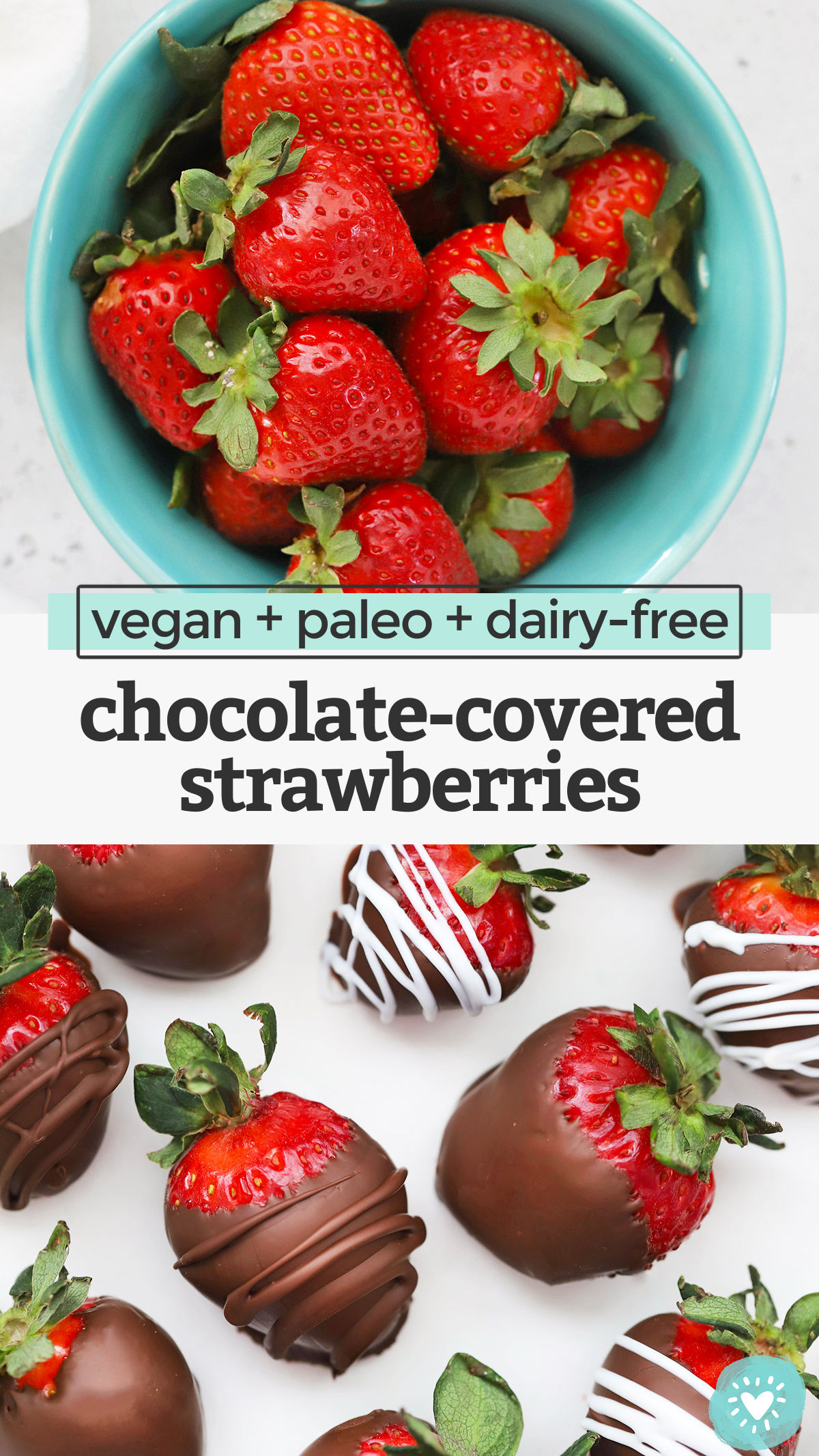 How to Make Chocolate Covered Strawberries - Here is everything you need to know to make this classic dessert! I'll even show you how to make them dairy-free, vegan, and paleo-approved! // Paleo Chocolate covered strawberries // dairy-free chocolate-covered strawberries // vegan chocolate covered strawberries // valentines day dessert #glutenfree #paleo #vegan #dairyfree #chocolatecoveredstrawberries