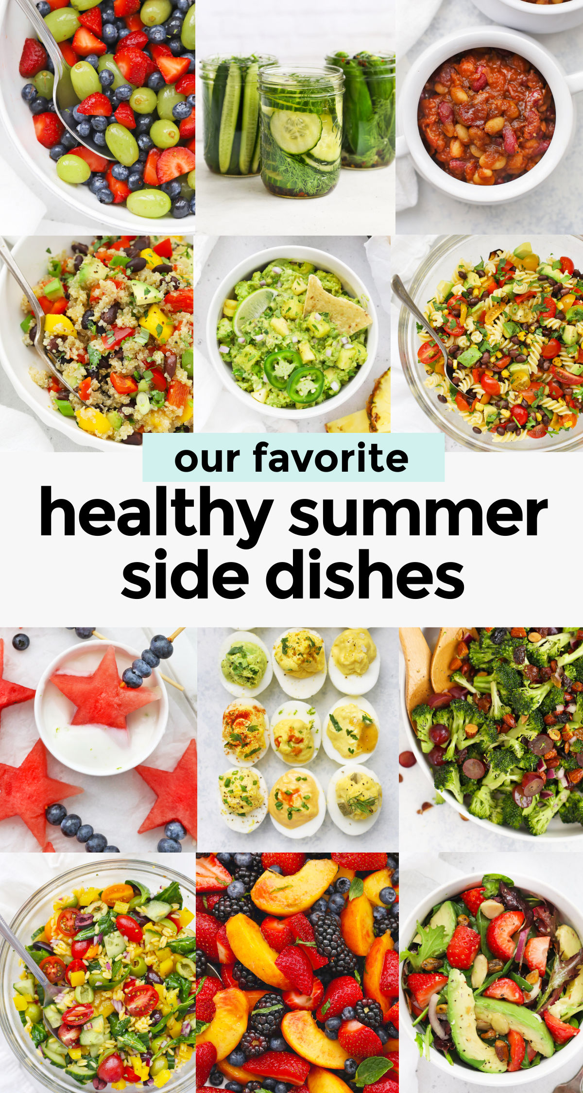 Our Favorite Healthy Summer Side Dishes--summer salads & sides that are perfect for your next barbecue or cookout! (Gluten-Free, Vegan, Paleo) // Summer Side Dish // BBQ Side Dishes // Barbecue Side Dishes // Grilling Side Dishes // Potluck Salads // Potluck Side Dish
