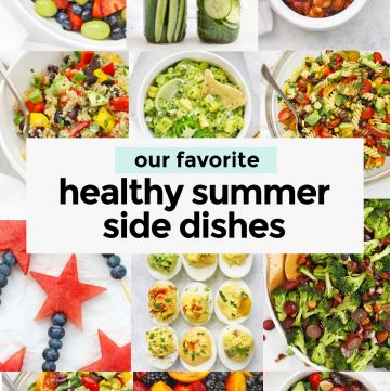 Collage of images of healthy summer side dishes from One Lovely Life