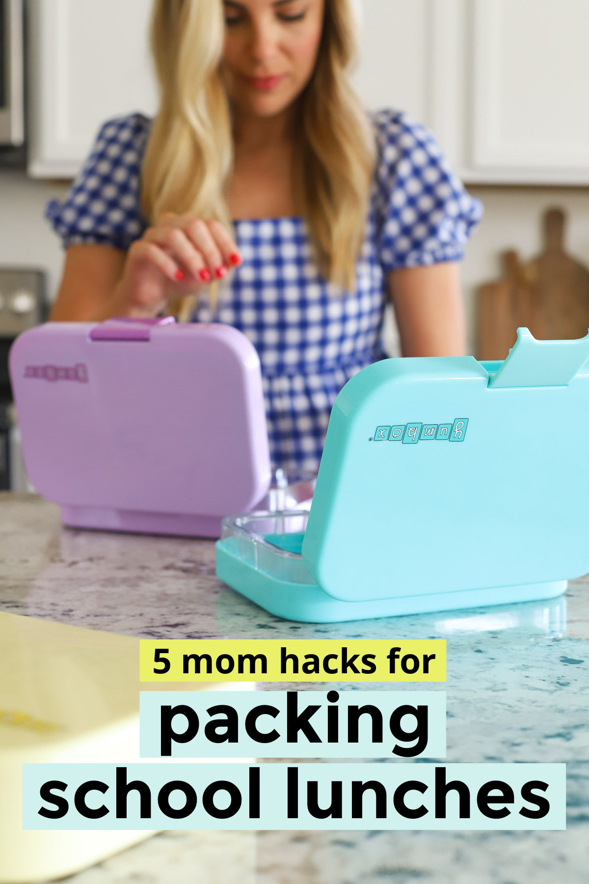 5 Hacks to Simplify Packing School Lunch! All our best school lunch tips and tricks for making school lunches fast and easy! // school lunches // school lunch ideas // mom hacks // time saving hacks // healthy lunches #packedlunch #schoollunch #momtip #backtoschool #lunch