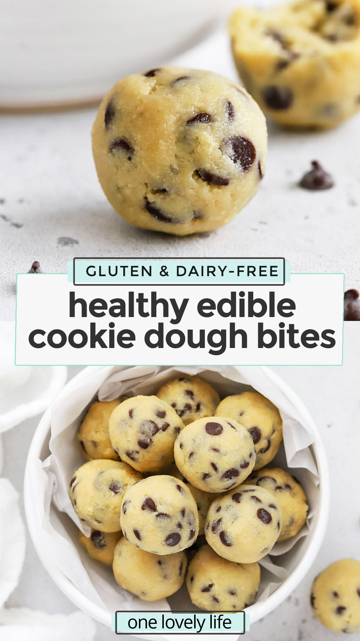 Healthy edible cookie dough? YES PLEASE! This almond flour cookie dough recipe is easy + delicious. The perfect no-bake treat to keep on hand! (Gluten-free, paleo, vegan-friendly) // Almond Flour Cookie Dough // Paleo Edible Cookie Dough // Vegan Edible Cookie Dough // Gluten Free Edible Cookie Dough #almondflour #healthytreat #glutenfree #vegetarian #vegan #cookiedough #paleo