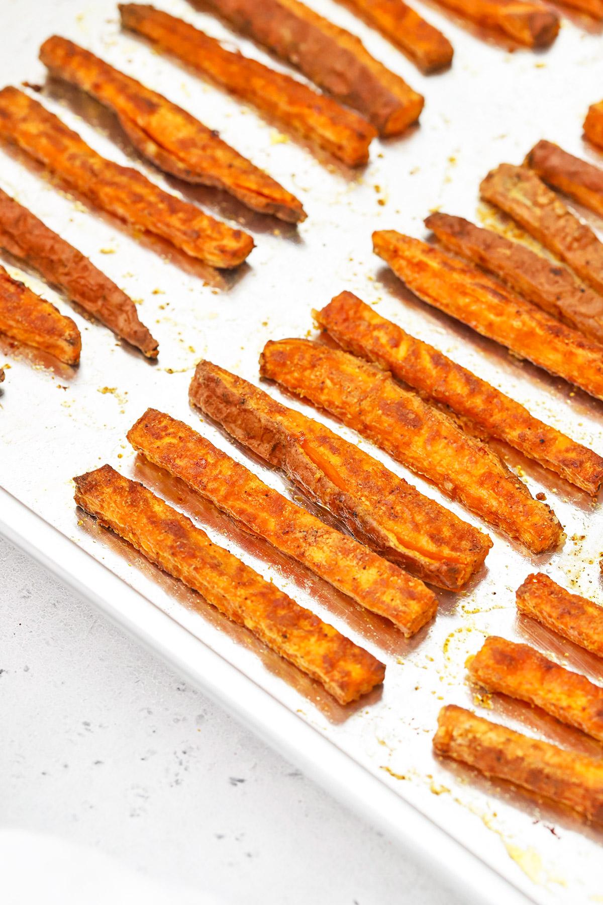 Crispy Baked Sweet Potato Fries with Fry Seasoning